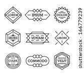 minimal monochrome geometric vintage label    Shutterstock vector #166779239
