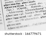 Small photo of Aberration - text and explanation in German language/Aberration