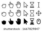 set of flat cursor icons  ... | Shutterstock .eps vector #1667829847