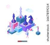 trendy flat illustration.... | Shutterstock .eps vector #1667859214