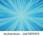 abstract cartoon style halftone ... | Shutterstock .eps vector #1667859391