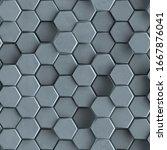 Seamless Pattern Of Gray...