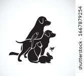 Vector Group Of Pets   Dog  Cat ...