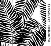seamless pattern of jungle ... | Shutterstock .eps vector #1667893951