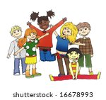 company of children of... | Shutterstock . vector #16678993
