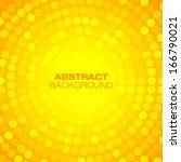 Abstract Orange Circular...