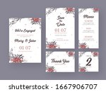 floral wedding invitation card... | Shutterstock .eps vector #1667906707
