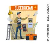 Electrician With Equipment ...