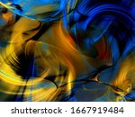 Yellow Abstract Fractal...