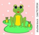 Cute  Frog Illustration Nurser...