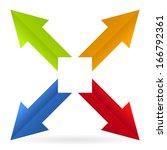 stylized arrow icon | Shutterstock .eps vector #166792361