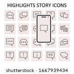 set of speech bubble chat...   Shutterstock .eps vector #1667939434
