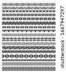 set of kyrgyz  kazakh  uzbek...   Shutterstock . vector #1667947297