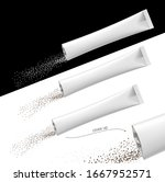 torn realistic stick pack with... | Shutterstock .eps vector #1667952571