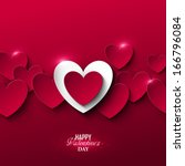 bright valentine s day... | Shutterstock .eps vector #166796084