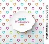 bright valentine s day... | Shutterstock .eps vector #166796141
