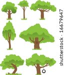 collection of trees | Shutterstock .eps vector #16679647