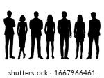 set of vector silhouettes of ... | Shutterstock .eps vector #1667966461