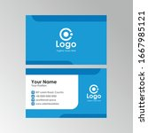 simple clean business card with ... | Shutterstock .eps vector #1667985121