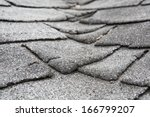 old composite  roof with damage | Shutterstock . vector #166799207