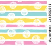 simple horizontal striped and... | Shutterstock .eps vector #1668003991