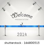 photorealistic bright stage... | Shutterstock .eps vector #166800515