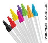 Colorful Marker Pen Set On...
