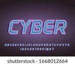 neon futurustic cyberpunk... | Shutterstock .eps vector #1668012664