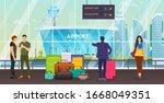 passenger group people together ... | Shutterstock .eps vector #1668049351