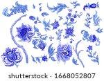 set of beautiful decorative... | Shutterstock .eps vector #1668052807
