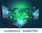 modern communication technology | Shutterstock . vector #166807505