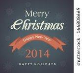 merry christmas celebration...   Shutterstock .eps vector #166808669