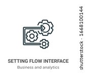 setting flow interface symbol... | Shutterstock .eps vector #1668100144