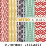 set of seamless patterns in... | Shutterstock .eps vector #166816595
