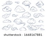 clouds in chinese style on... | Shutterstock .eps vector #1668167881