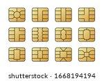 emv chips for banking plastic... | Shutterstock .eps vector #1668194194
