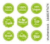 set natural organic product... | Shutterstock .eps vector #1668197674