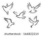 doves and pigeons birds logo... | Shutterstock .eps vector #166822214