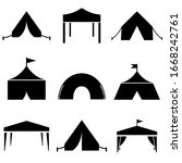 tent set icon  logo isolated on ...   Shutterstock .eps vector #1668242761