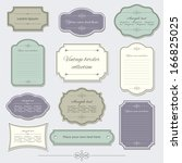 vintage frame and label set.... | Shutterstock .eps vector #166825025
