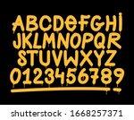 graffiti tag style alphabet ...   Shutterstock .eps vector #1668257371