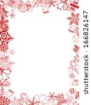red christmas card frame and... | Shutterstock . vector #166826147