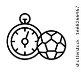 stopwatch  football icon....