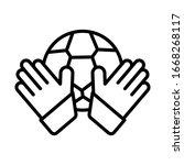 goalkeeper  football icon....
