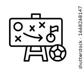 strategy  football icon. simple ...