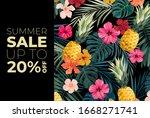 dark vector summer design with... | Shutterstock .eps vector #1668271741