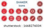 editable 14 shaker icons for... | Shutterstock .eps vector #1668276034