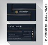 business card in modern luxury... | Shutterstock .eps vector #1668278257