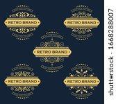vector set of vintage luxury... | Shutterstock .eps vector #1668288007