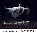 Levitation Image Of A Woman...